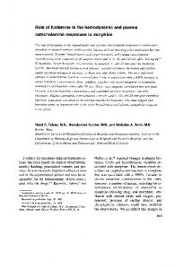 Role of histamine in the hemodynamic and ... - Wiley Online Library