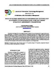 role of human resource in information technology ... - Semantic Scholar