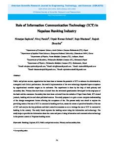 Role of Information Communication Technology (ICT