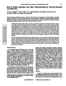 Role of Iodine, Selenium and Other Micronutrients in ...