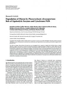 Role of Ligninolytic Enzymes and Cytochrome P450