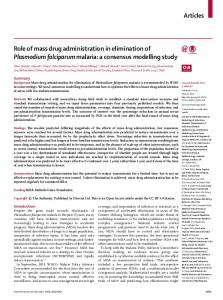 Role of mass drug administration in elimination of ... - Semantic Scholar