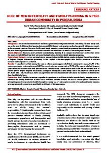 role of men in fertility and family planning in a peri- urban ... - eJManager