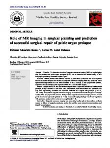 Role of MR imaging in surgical planning and ... - CyberLeninka