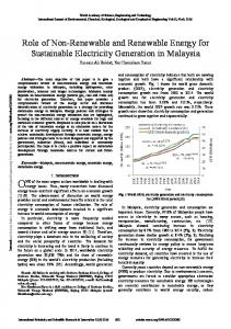 Role of Non-Renewable and Renewable Energy for ...