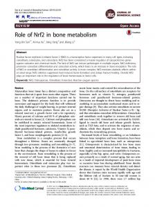 Role of Nrf2 in bone metabolism - Core