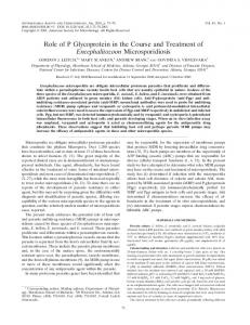 Role of P Glycoprotein in the Course and Treatment of ...