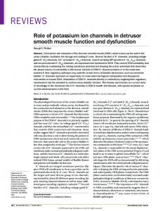 Role of potassium ion channels in detrusor smooth muscle ... - Nature