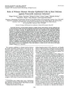 Role of Primary Human Alveolar Epithelial Cells in Host Defense ...