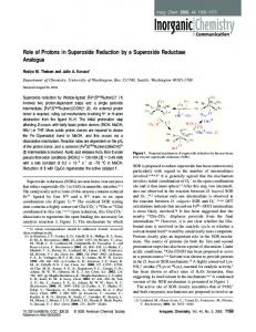 Role of Protons in Superoxide Reduction by a Superoxide Reductase