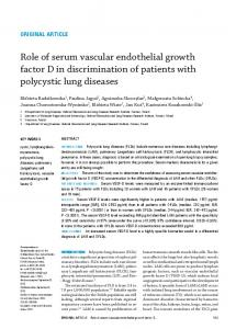 Role of serum vascular endothelial growth factor D in ...