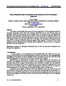 Role of Statistical tests in Estimation of the Security of a New ...www.researchgate.net › publication › fulltext › Role-of-St
