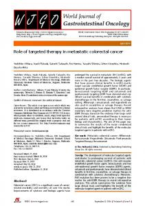 Role of targeted therapy in metastatic colorectal ... - Semantic Scholar