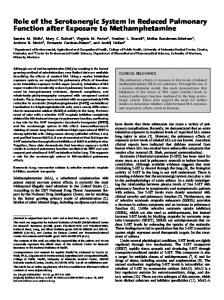 Role of the Serotonergic System in Reduced ... - ATS Journals