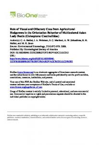 Role of Visual and Olfactory Cues from Agricultural ... - The Atrium