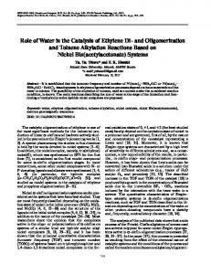 Role of Water in the Catalysis of Ethylene Di- and ... - Springer Link