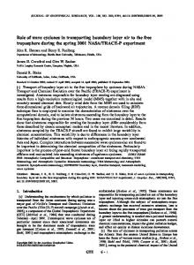 Role of wave cyclones in transporting boundary layer air ... - CiteSeerX