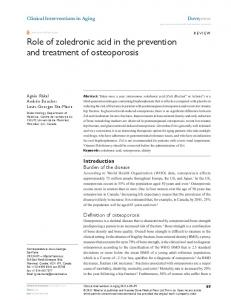Role of zoledronic acid in the prevention and treatment of ... - CiteSeerX