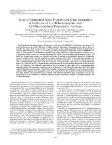Roles of Horizontal Gene Transfer and Gene Integration in ... - CiteSeerX
