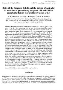 Roles of the dominant follicle and the pattern of ... - Reproduction
