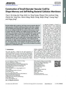 Rolling Bacterial Cellulose Membrane - Wiley Online Library