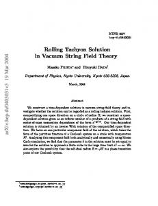 Rolling Tachyon Solution in Vacuum String Field Theory