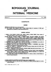 romanian journal of internal medicine