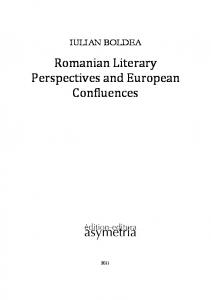Romanian Literary Perspectives and European ... - World Public Library