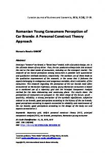 Romanian Young Consumers Perception of Car Brands