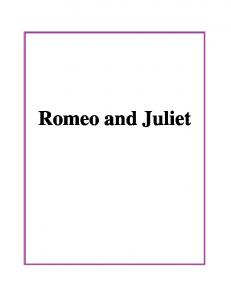 Romeo and Juliet - Education Library