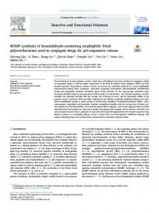 ROMP synthesis of benzaldehyde-containing ...