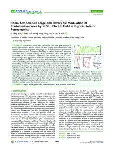 Room Temperature Large and Reversible ... - ACS Publications