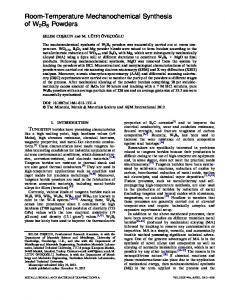 Room-Temperature Mechanochemical Synthesis of ... - Springer Link