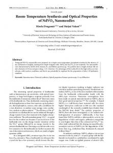 Room-Temperature Synthesis and Optical Properties ...