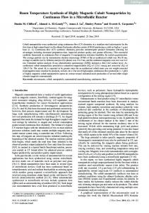 Room Temperature Synthesis of Highly Magnetic ... - Springer Link