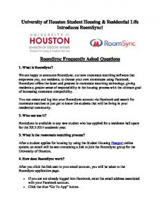 RoomSync - University of Houston