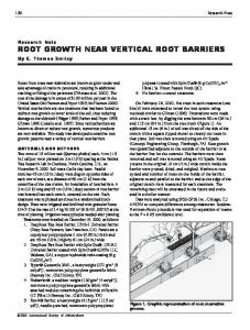 root growth near vertical root barriers - Arboriculture & Urban Forestry