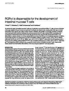 ROR t is dispensable for the development of intestinal ... - Nature