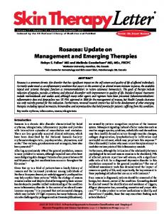 Rosacea: Update on Management and ... - Skin Therapy Letter