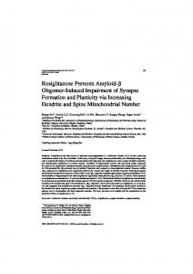Rosiglitazone Prevents Amyloid- Oligomer-Induced ... - IOS Press
