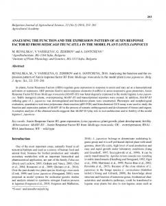 Rossy Yancheva.indd - Bulgarian Journal of Agricultural Science