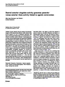 Rostral anterior cingulate activity generates posterior versus anterior ...