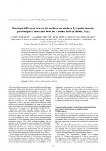 Rotational differences between the northern and ... - GeoScienceWorld