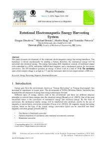 Rotational Electromagnetic Energy Harvesting System - Core
