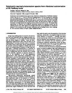 Rotationally resolved photoelectron spectra from vibrational ...