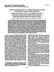 Rotavirus - Journal of Clinical Microbiology - American Society for ...