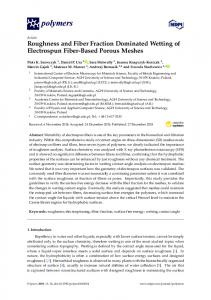 Roughness and Fiber Fraction Dominated Wetting of ... - MDPI