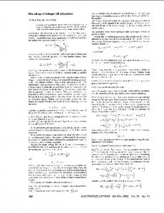 Round-up of integer bit allocation - Electronics Letters - IEEE Xplore