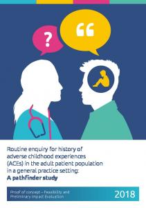 Routine enquiry for history of adverse childhood experiences (ACEs