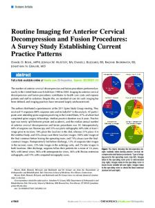 Routine Imaging for Anterior Cervical Decompression and Fusion ...